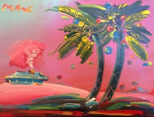 Peter Max- 2 Palms