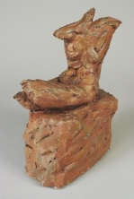 Seated Torso Study – hand patinated –Unique
