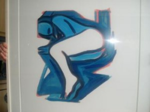 Blue Nude 3 Tom Wesselmann