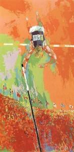 Olympic Pole Vaulting LeRoy Neiman
