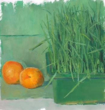 Wheatgrass and Apricot