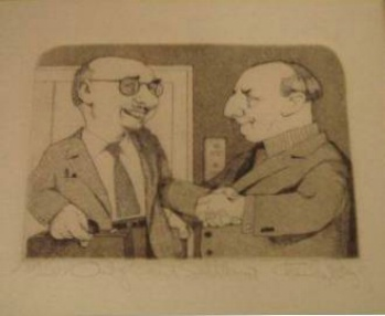 Out of Court Settlement Etching