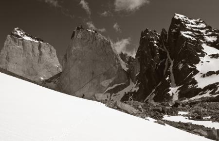 Don Worsham in the Vallee del Silencio Torres del Paine, Patagonia
