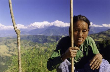 Gurung Matriarch - Tatopani, Nepal