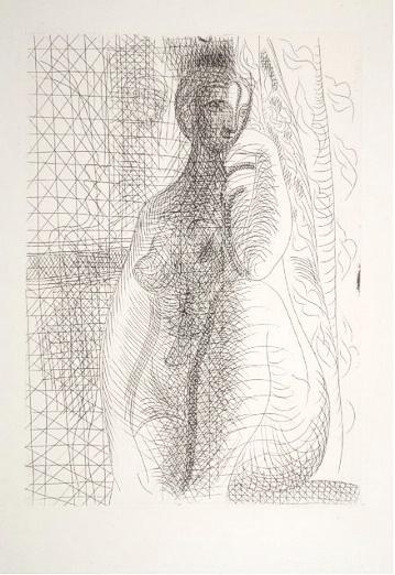 Femme nue a la Jambe Pliee