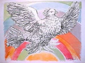 colombe-volant-a-larc-en-ciel