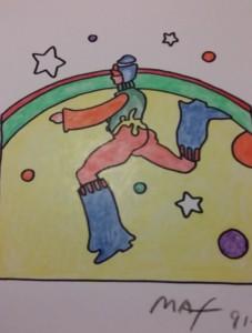 Peter Max Cosmic Jumper