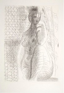 Picasso Femme nue a La Jambe Pliee original print