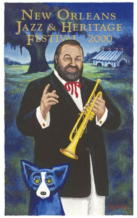 Jazz Fest 2000 <br> Al Hirt and Blue Dog